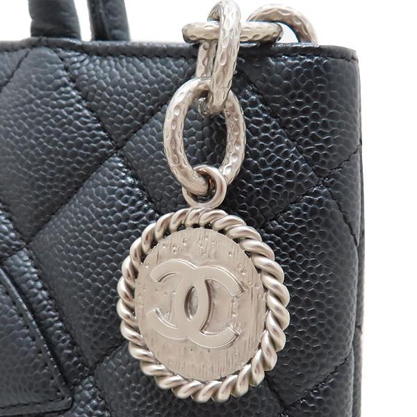 Chanel(샤넬) A01804 블랙 캐비어스킨 은장 COCO 로고 코인 토트백 [인천점] 이미지5 - 고이비토 중고명품
