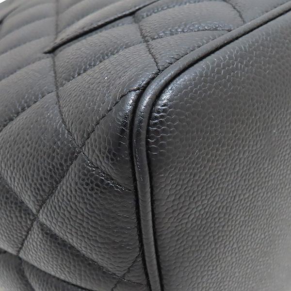 Chanel(샤넬) A01804 블랙 캐비어스킨 은장 COCO 로고 코인 토트백 [인천점] 이미지6 - 고이비토 중고명품