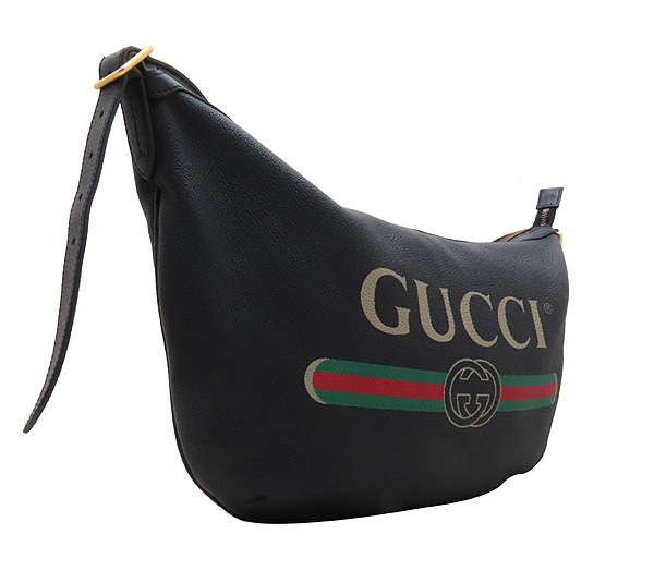 Gucci(구찌) 523588 블랙 레더 GUCCI 프린팅 호보 숄더백 겸 크로스백 [인천점] 이미지3 - 고이비토 중고명품