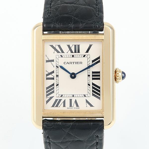 Cartier(까르띠에) W5200002 18K 금통 솔로 탱크 가죽밴드 여성용 시계 [강남본점]