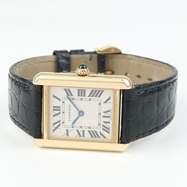 Cartier(까르띠에) W5200002 18K 금통 솔로 탱크 가죽밴드 여성용 시계 [강남본점] 이미지2 - 고이비토 중고명품
