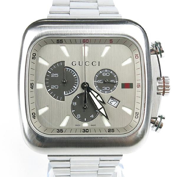 Gucci(구찌) YA131201 G쿠페 크로노 그래프 쿼츠 스틸밴드 남성용 시계 [강남본점]