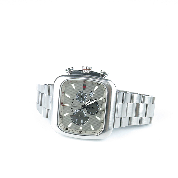 Gucci(구찌) YA131201 G쿠페 크로노 그래프 쿼츠 스틸밴드 남성용 시계 [강남본점] 이미지2 - 고이비토 중고명품