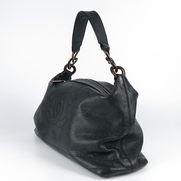 Chanel(샤넬) 블랙 캐비어스킨 coco 로고 호보 숄더백 [강남본점] 이미지2 - 고이비토 중고명품
