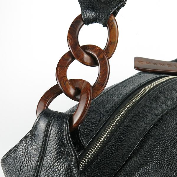 Chanel(샤넬) 블랙 캐비어스킨 coco 로고 호보 숄더백 [강남본점] 이미지3 - 고이비토 중고명품