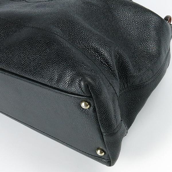 Chanel(샤넬) 블랙 캐비어스킨 coco 로고 호보 숄더백 [강남본점] 이미지4 - 고이비토 중고명품