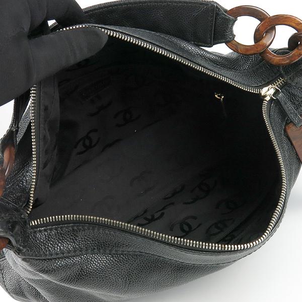 Chanel(샤넬) 블랙 캐비어스킨 coco 로고 호보 숄더백 [강남본점] 이미지5 - 고이비토 중고명품