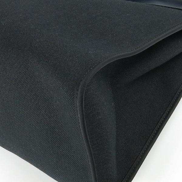 Hermes(에르메스) 에르라인 블랙 패브릭 네이비 레더 혼방 집업 에르백 GM 토트백 + 숄더스트랩 2WAY [강남본점] 이미지5 - 고이비토 중고명품