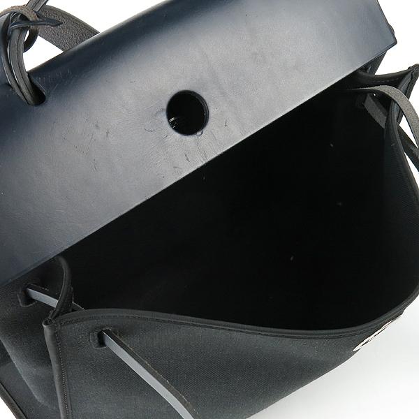 Hermes(에르메스) 에르라인 블랙 패브릭 네이비 레더 혼방 집업 에르백 GM 토트백 + 숄더스트랩 2WAY [강남본점] 이미지6 - 고이비토 중고명품