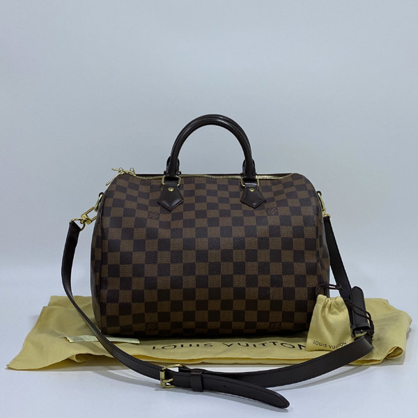 Louis Vuitton(루이비통) N41367 다미에 에벤 캔버스 신형 반둘리에 스피디 30 토트백 + 숄더 스트랩 2WAY [대구반월당본점]