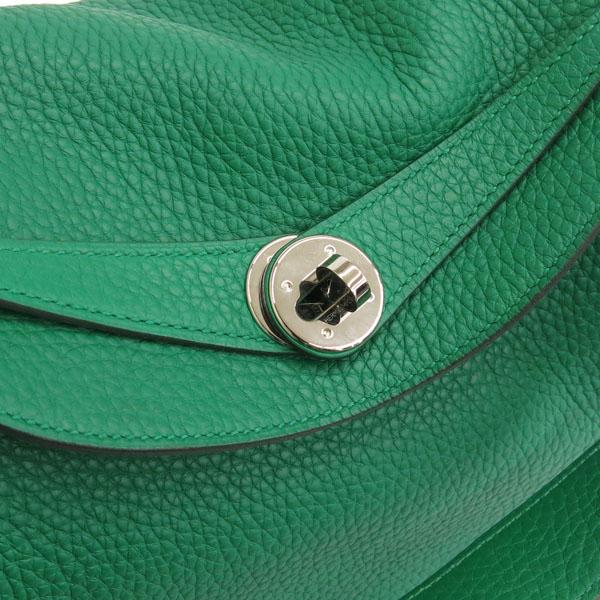 Hermes(에르메스) 그린 컬러 신형 LINDY 린디30 끌레망스 은장 로고 토트백 + 숄더스트랩 [동대문점] 이미지4 - 고이비토 중고명품