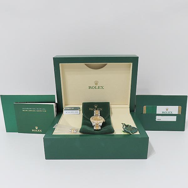 Rolex(로렉스) 179313 18K 옐로우골드 콤비 베젤 12포인트 다이아 컴퓨터판 DATEJUST(데이저스트) 26mm 여성용 시계 [부산서면롯데점]
