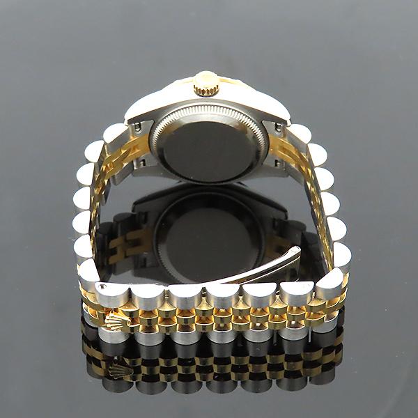 Rolex(로렉스) 179313 18K 옐로우골드 콤비 베젤 12포인트 다이아 컴퓨터판 DATEJUST(데이저스트) 26mm 여성용 시계 [부산서면롯데점] 이미지5 - 고이비토 중고명품