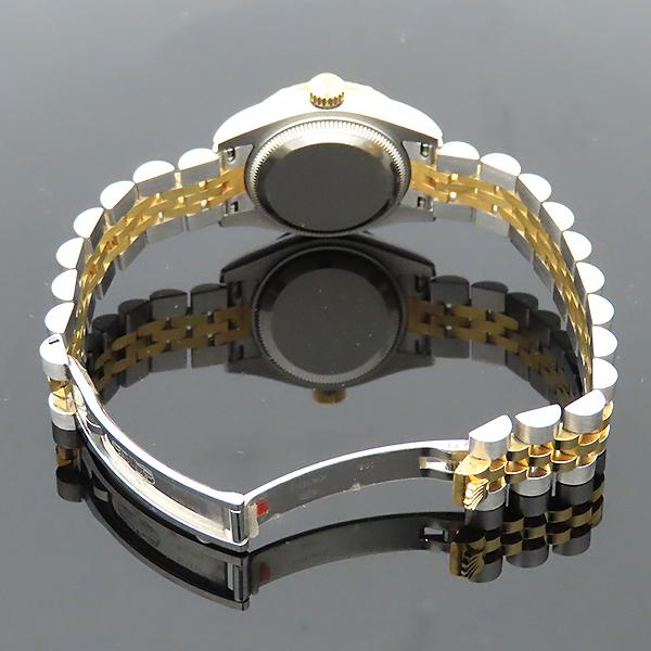 Rolex(로렉스) 179313 18K 옐로우골드 콤비 베젤 12포인트 다이아 컴퓨터판 DATEJUST(데이저스트) 26mm 여성용 시계 [부산서면롯데점] 이미지6 - 고이비토 중고명품