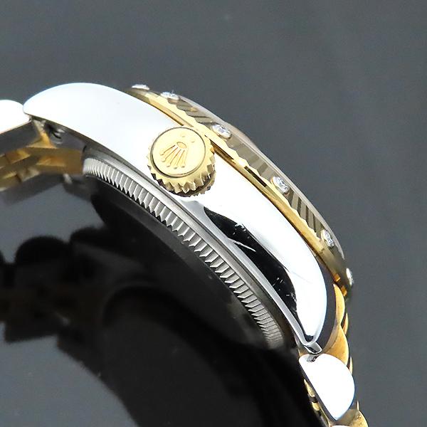 Rolex(로렉스) 179313 18K 옐로우골드 콤비 베젤 12포인트 다이아 컴퓨터판 DATEJUST(데이저스트) 26mm 여성용 시계 [부산서면롯데점] 이미지7 - 고이비토 중고명품