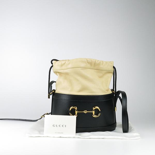 Gucci(구찌) 602118 금장 홀스빗 블랙 레더 버킷 크로스백 [강남본점]