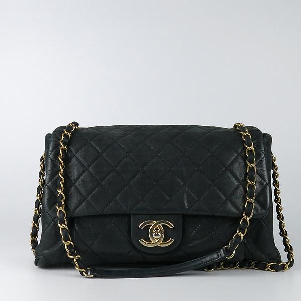 Chanel(샤넬) 블랙 레더 퀼팅 COCO 빈티지 금장 로고 체인 숄더백 [강남본점] 이미지2 - 고이비토 중고명품