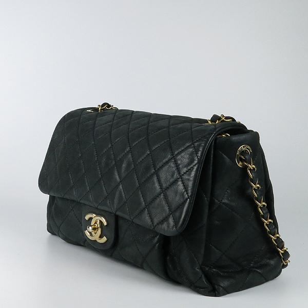 Chanel(샤넬) 블랙 레더 퀼팅 COCO 빈티지 금장 로고 체인 숄더백 [강남본점] 이미지3 - 고이비토 중고명품