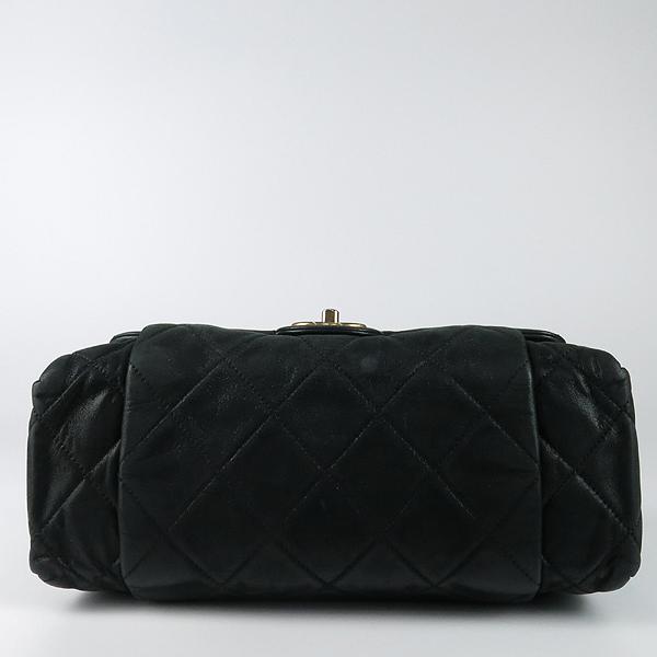 Chanel(샤넬) 블랙 레더 퀼팅 COCO 빈티지 금장 로고 체인 숄더백 [강남본점] 이미지4 - 고이비토 중고명품