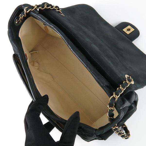Chanel(샤넬) 블랙 레더 퀼팅 COCO 빈티지 금장 로고 체인 숄더백 [강남본점] 이미지5 - 고이비토 중고명품