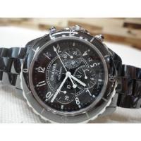 샤넬 전시급)Chanel(샤넬) 럭셔리 H0940 J12 41MM 블랙 세라믹 크로노 오토매틱 남성용 남성시계
