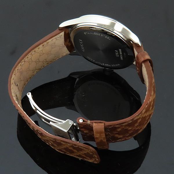 Gucci(구찌) 126.4 디아망떼 다이얼 바 인덱스 데이트 오토매틱 브라운 가죽 브레이슬릿 시계 [인천점] 이미지5 - 고이비토 중고명품