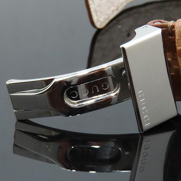 Gucci(구찌) 126.4 디아망떼 다이얼 바 인덱스 데이트 오토매틱 브라운 가죽 브레이슬릿 시계 [인천점] 이미지6 - 고이비토 중고명품