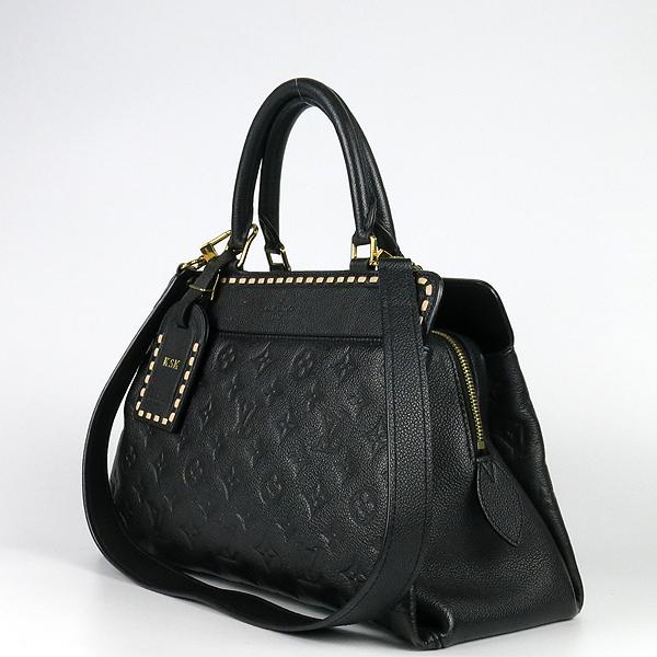 Louis Vuitton(루이비통) M41491 모노그램 앙프렝뜨 Black Beige 블랙 베이지 보주 MM 토트백 + 숄더스트랩 2WAY [강남본점] 이미지2 - 고이비토 중고명품