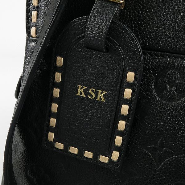 Louis Vuitton(루이비통) M41491 모노그램 앙프렝뜨 Black Beige 블랙 베이지 보주 MM 토트백 + 숄더스트랩 2WAY [강남본점] 이미지3 - 고이비토 중고명품
