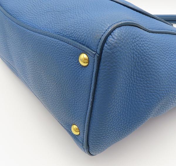 MiuMiu(미우미우) RN0908 블루 레더 금장 로고 토트백 [분당정자점] 이미지5 - 고이비토 중고명품