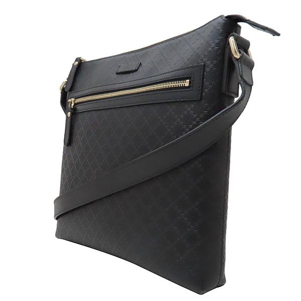 Gucci(구찌) 387399 블랙 레더 DIAMANTE 패턴 메신저 크로스백 [인천점] 이미지2 - 고이비토 중고명품