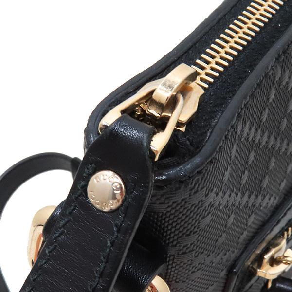 Gucci(구찌) 387399 블랙 레더 DIAMANTE 패턴 메신저 크로스백 [인천점] 이미지3 - 고이비토 중고명품