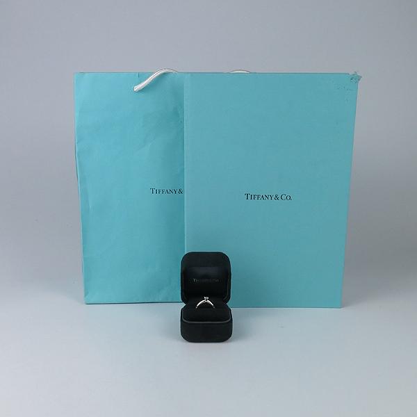 Tiffany(티파니) 63133876 PT950 플래티늄 골드 VVS1 티파니 셋팅 0.2CT 1포인트 다이아 웨딩밴드 반지 - 9호 [강남본점]