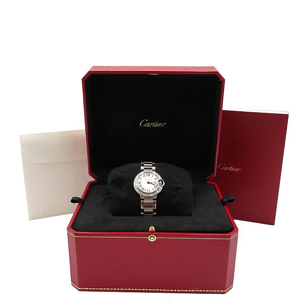 Cartier(까르띠에) W4BB0015 발롱블루 28mm 다이아 베젤 스틸 쿼츠 여성용 시계 [대전갤러리아점]