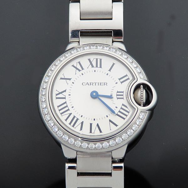 Cartier(까르띠에) W4BB0015 발롱블루 28mm 다이아 베젤 스틸 쿼츠 여성용 시계 [대전갤러리아점] 이미지2 - 고이비토 중고명품