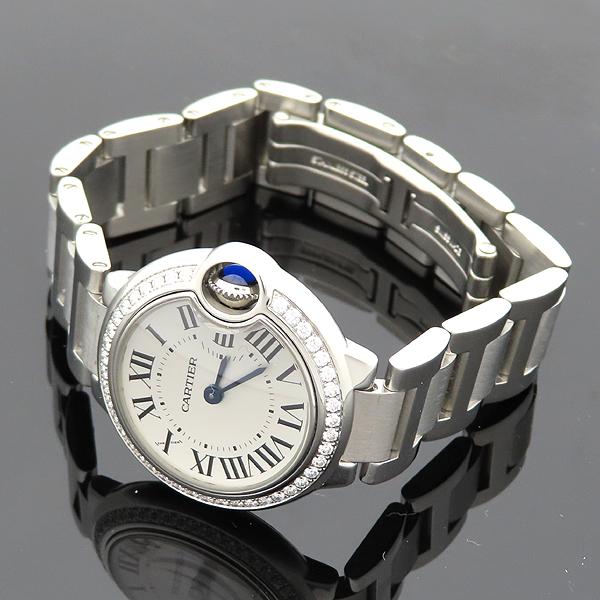 Cartier(까르띠에) W4BB0015 발롱블루 28mm 다이아 베젤 스틸 쿼츠 여성용 시계 [대전갤러리아점] 이미지3 - 고이비토 중고명품
