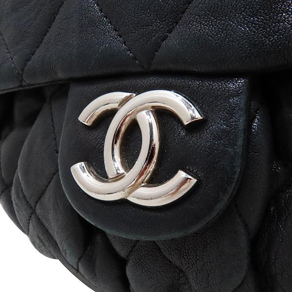 Chanel(샤넬) 블랙 카프스킨 은장 체인 어라운드 CC 플랩 크로스바디 숄더백 [인천점] 이미지3 - 고이비토 중고명품