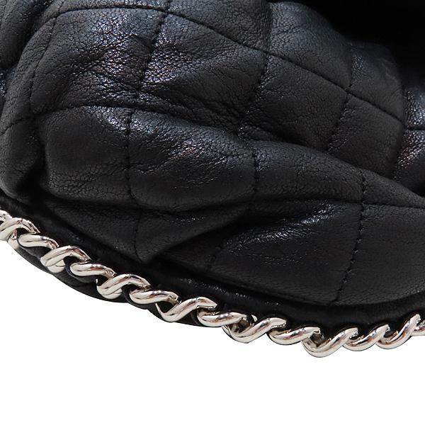 Chanel(샤넬) 블랙 카프스킨 은장 체인 어라운드 CC 플랩 크로스바디 숄더백 [인천점] 이미지4 - 고이비토 중고명품