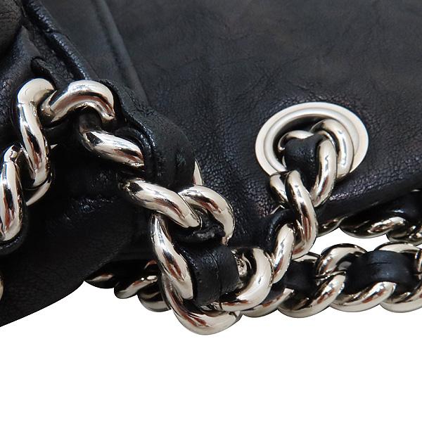 Chanel(샤넬) 블랙 카프스킨 은장 체인 어라운드 CC 플랩 크로스바디 숄더백 [인천점] 이미지6 - 고이비토 중고명품