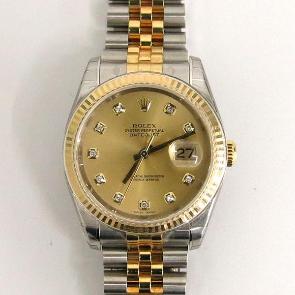 Rolex(로렉스) 116233 10P 다이아 데이트 18K 옐로우 골드 콤비 쥬빌레 브레이슬릿 오토매틱 남성용 시계 [동대문점] 이미지2 - 고이비토 중고명품