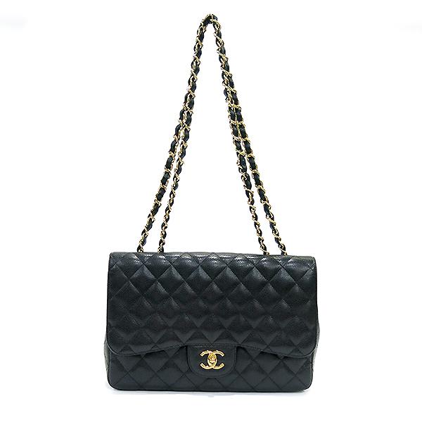 Chanel(샤넬) A58600 캐비어 스킨 클래식 점보 사이즈 금장 체인 숄더백 [부산센텀본점] 이미지2 - 고이비토 중고명품