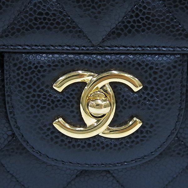 Chanel(샤넬) A58600 캐비어 스킨 클래식 점보 사이즈 금장 체인 숄더백 [부산센텀본점] 이미지4 - 고이비토 중고명품