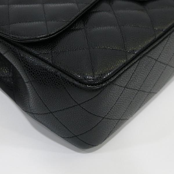 Chanel(샤넬) A58600 캐비어 스킨 클래식 점보 사이즈 금장 체인 숄더백 [부산센텀본점] 이미지7 - 고이비토 중고명품