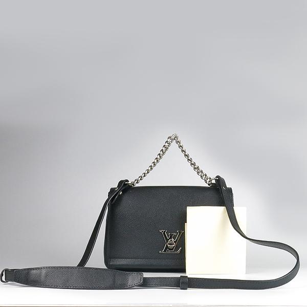 Louis Vuitton(루이비통) M51200 락미(LOCKME) II BB 느와르 카프레더 오버사이즈 LV 트위스트 은장 로고 체인 2WAY [강남본점]