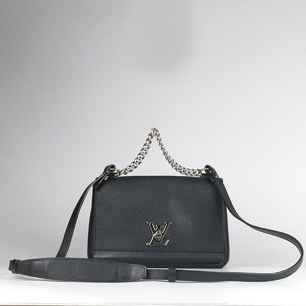 Louis Vuitton(루이비통) M51200 락미(LOCKME) II BB 느와르 카프레더 오버사이즈 LV 트위스트 은장 로고 체인 2WAY [강남본점] 이미지2 - 고이비토 중고명품