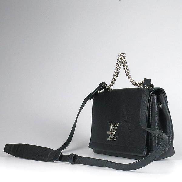 Louis Vuitton(루이비통) M51200 락미(LOCKME) II BB 느와르 카프레더 오버사이즈 LV 트위스트 은장 로고 체인 2WAY [강남본점] 이미지3 - 고이비토 중고명품