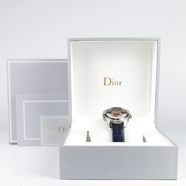 Dior(크리스챤디올) CD153B2GA001 DIOR GRAND BAL PLUME 오토매틱 베젤 다이아 악어가죽밴드 여성용시계 [강남본점]