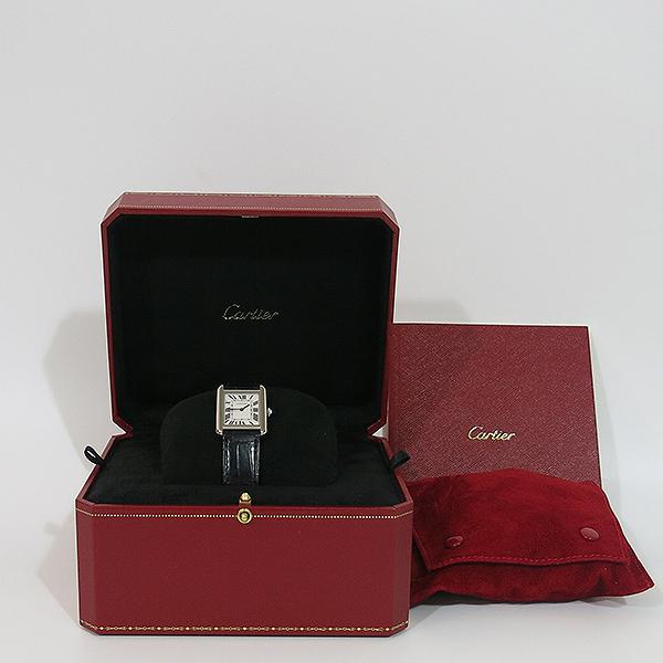 Cartier(까르띠에) W5200013 탱크 솔로 S사이즈 24MM 쿼츠 가죽밴드 여성용 시계 [대구동성로점]
