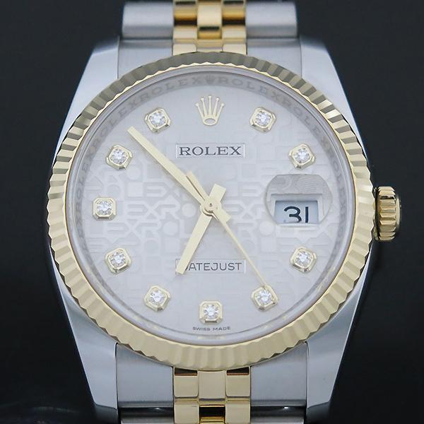 Rolex(로렉스) 116233 DATEJUST(데이저스트) 10P 다이아 데이트 18K 옐로우 골드 콤비 컴퓨터판 오토매틱 남성용 시계 [부산센텀본점] 이미지3 - 고이비토 중고명품