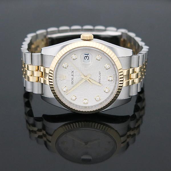 Rolex(로렉스) 116233 DATEJUST(데이저스트) 10P 다이아 데이트 18K 옐로우 골드 콤비 컴퓨터판 오토매틱 남성용 시계 [부산센텀본점] 이미지4 - 고이비토 중고명품